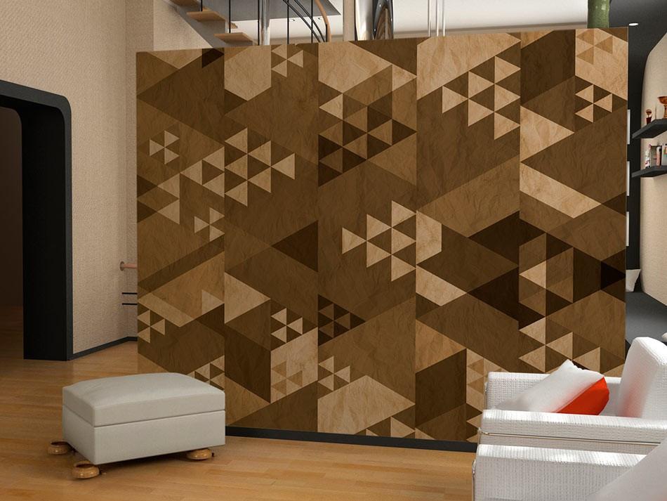 Fototapeta - Brązowy patchwork