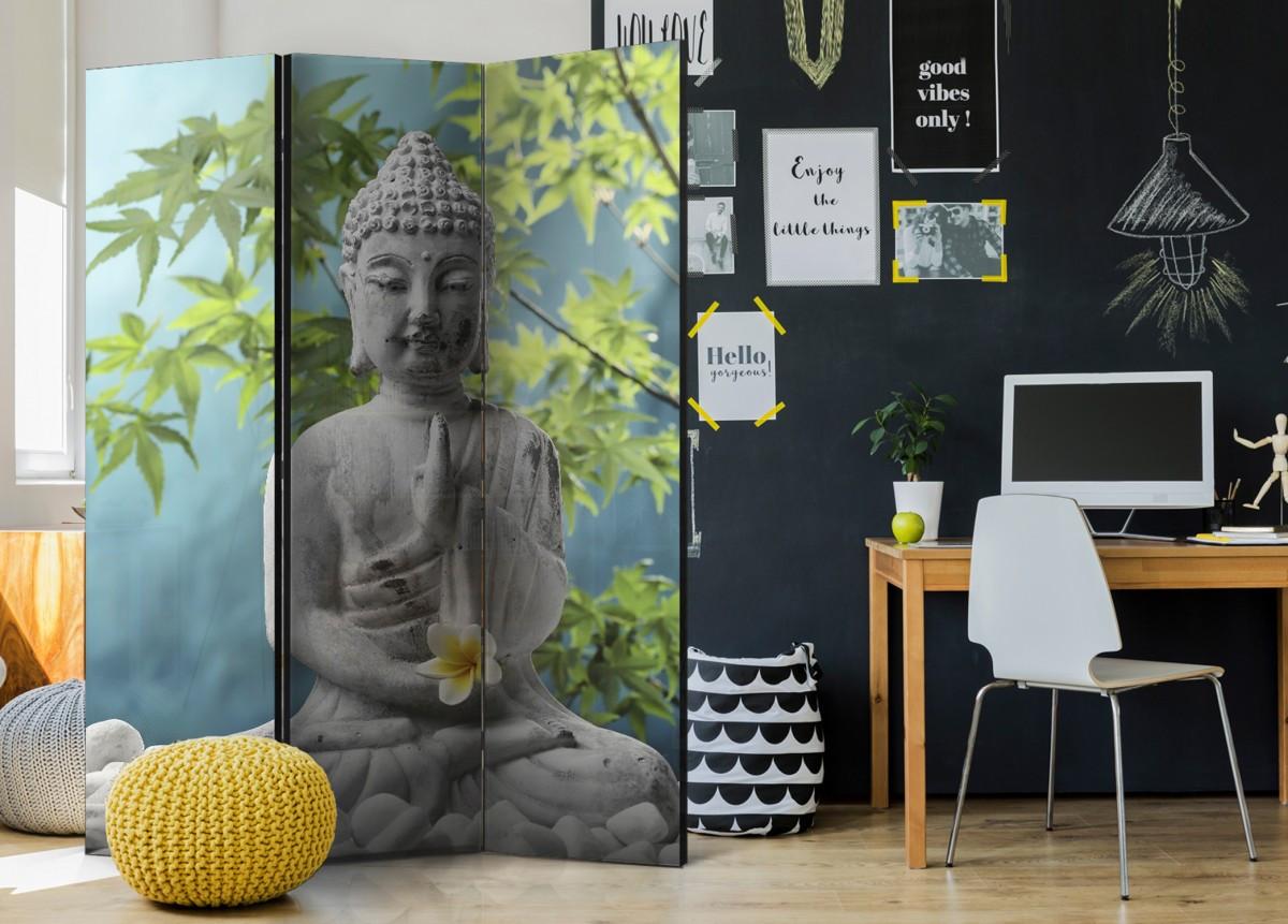Parawan 3-częściowy - Medytujący Budda [Parawan]